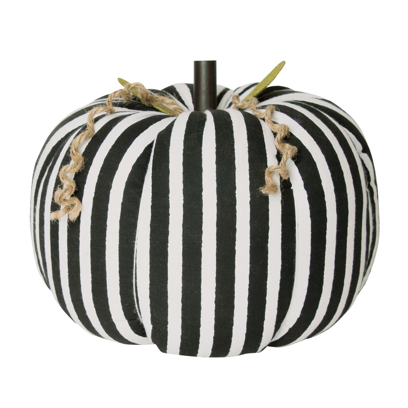 CF-2187 - XL BW Stripe Fabric Pumpkin