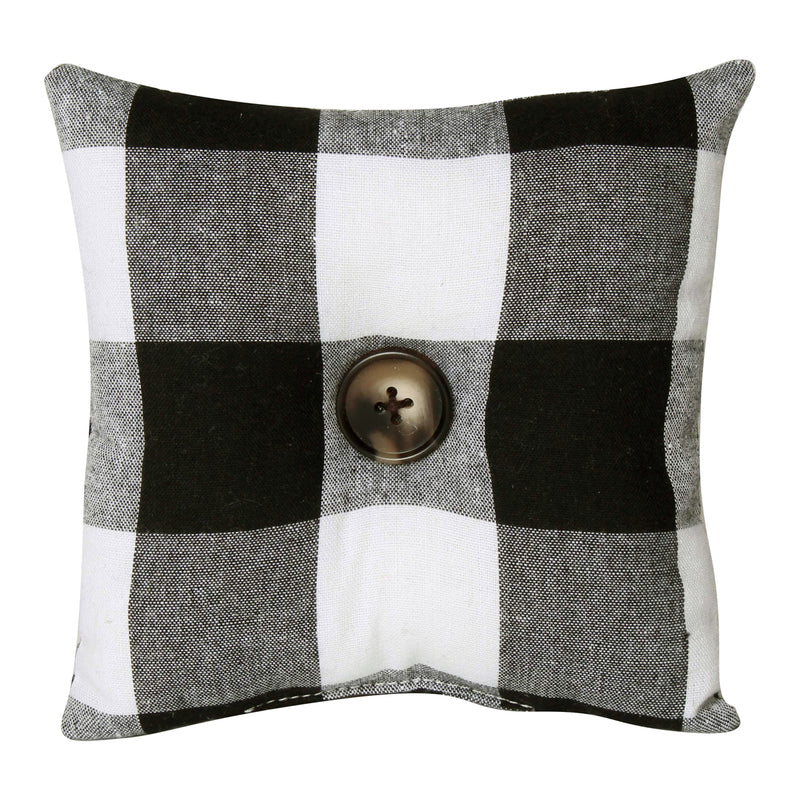 CF-2224 - BW Check Fabric Mini Pillow