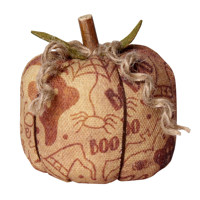 CF-2251 - Sm. Halloween Fabric Pumpkin