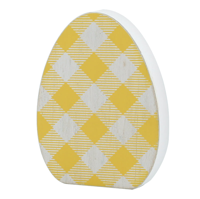 FR-9340 - Lrg. Yellow Check Egg