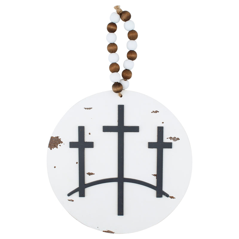 FR-9397 - 3D Cross Round Sign