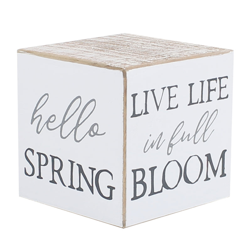 FR-9399 - Easter/Spring Sayings Cube (4-sided)