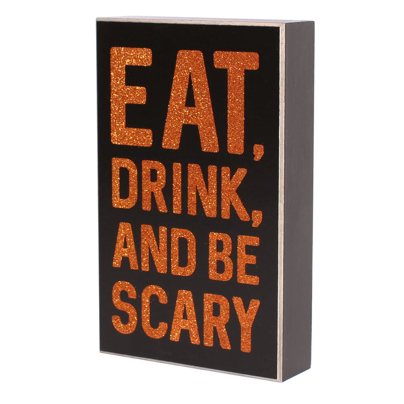 FR-9484 - Be Scary Glitter Box Sign