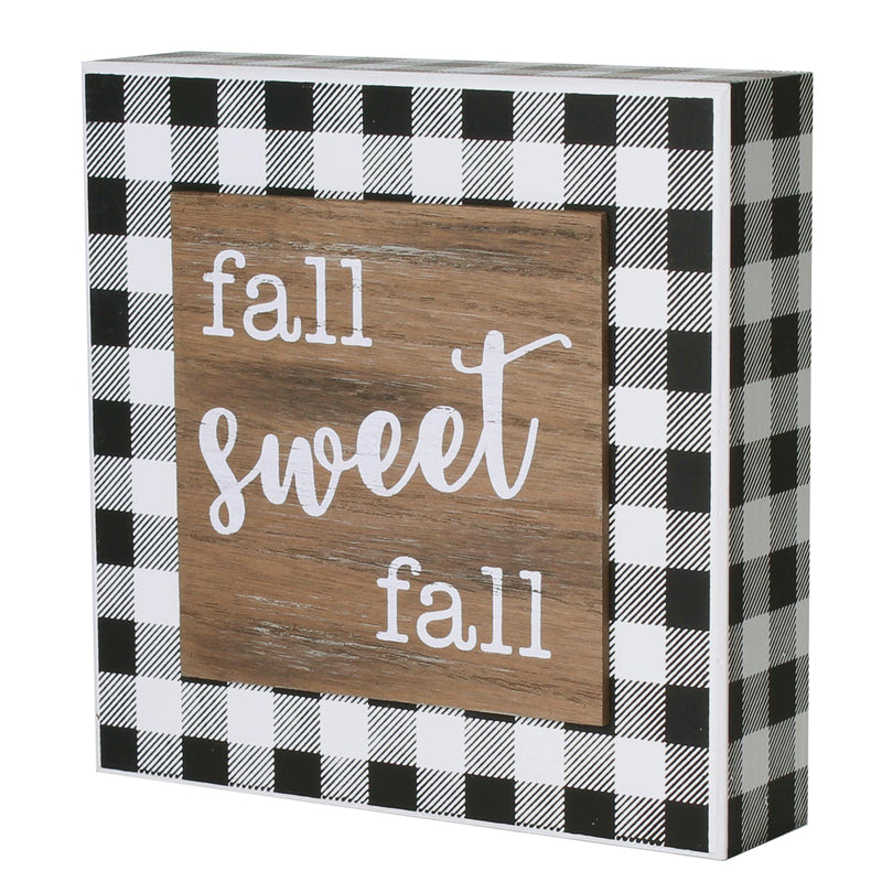 FR-9518 - Sweet Fall BW 3D Box Sign