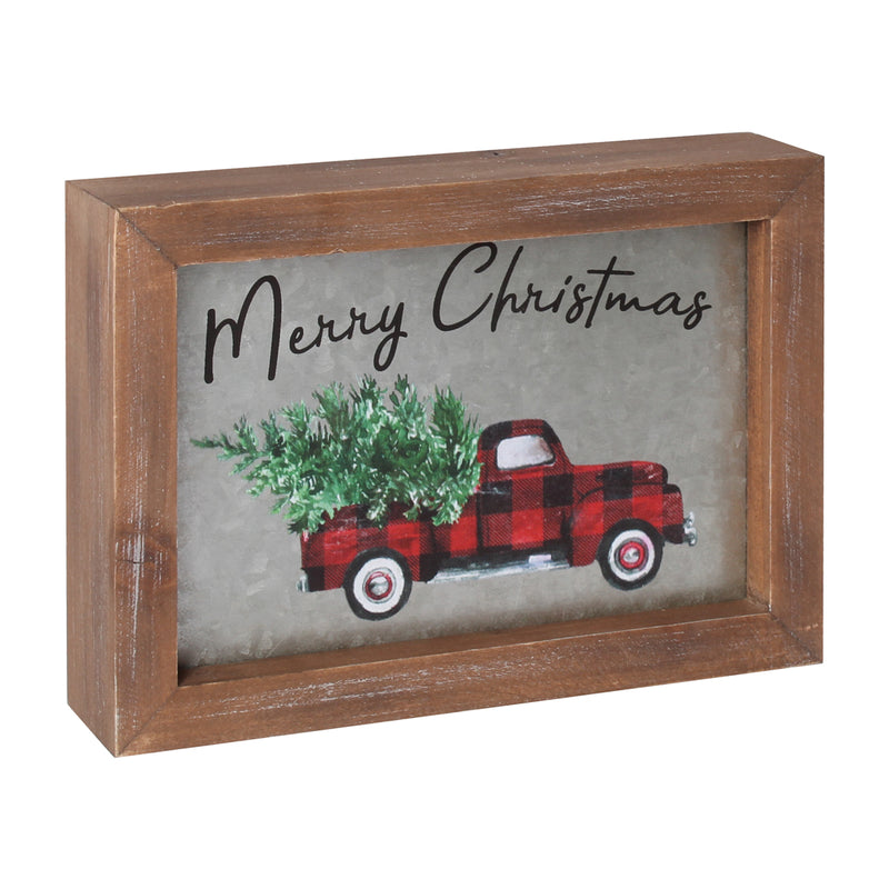 FR-9593 - Merry Truck RB Framed Sign
