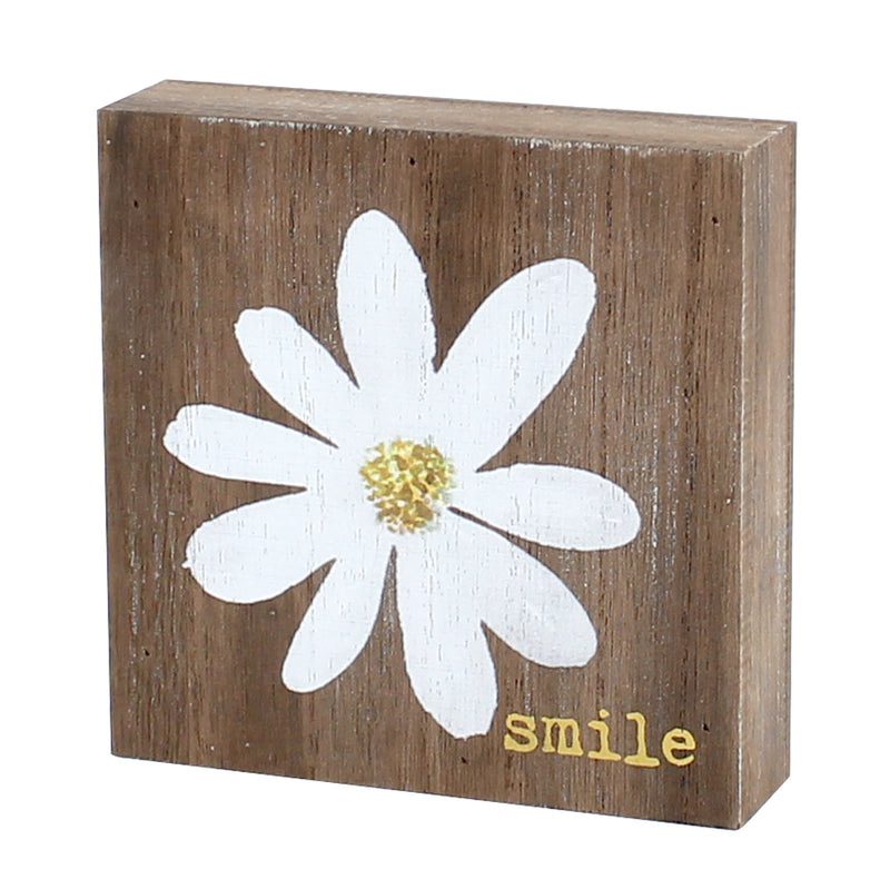 PS-7660 - Smile Daisy Block Sign