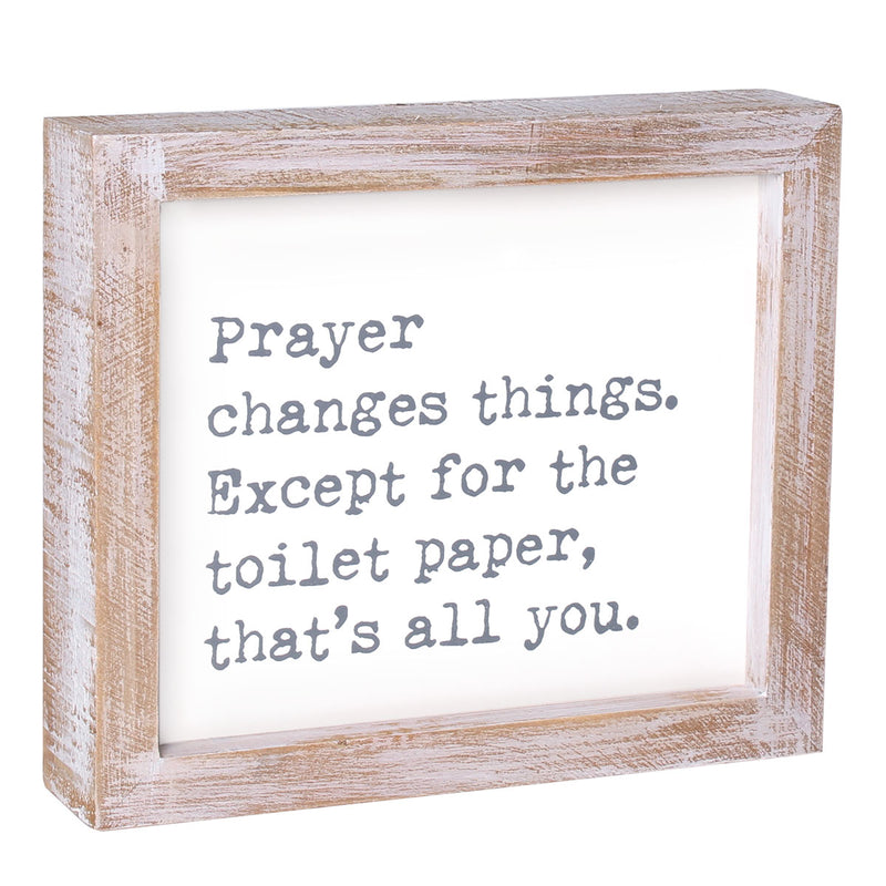 PS-7816 - Toilet Paper Framed Sign