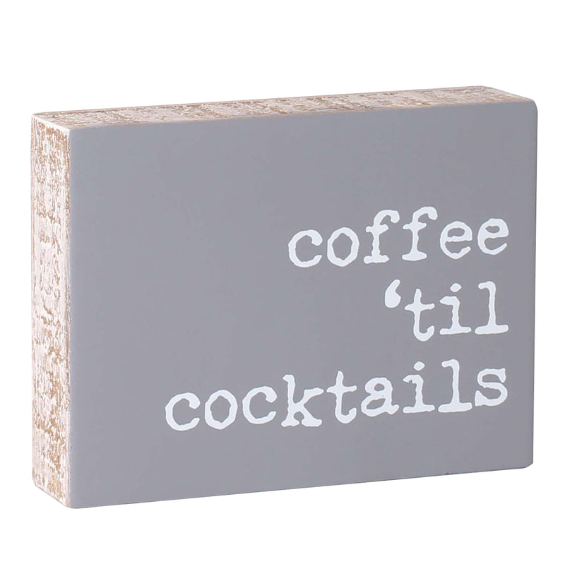 PS-7829 - Cocktails Block Sign