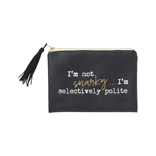 Selectively Polite Cosmetic Bag