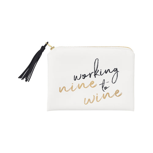 Nine To Wine Cosmetic Bag