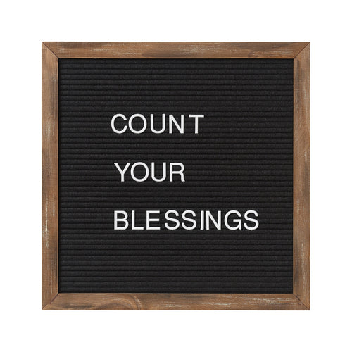 14x14 Black Letter Board (includes 144 letters/symbols)