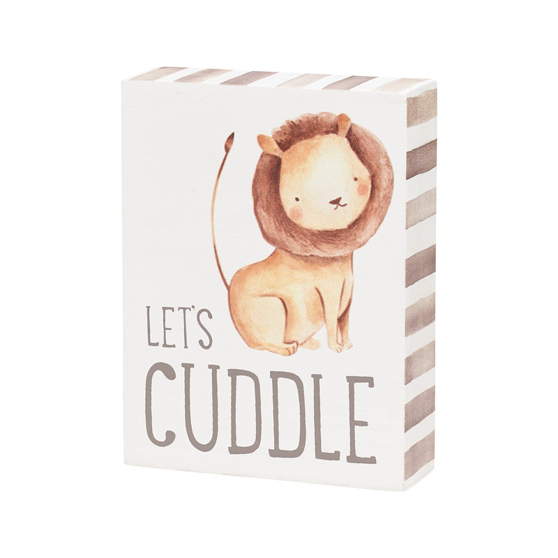 Let's Cuddle Block Sign