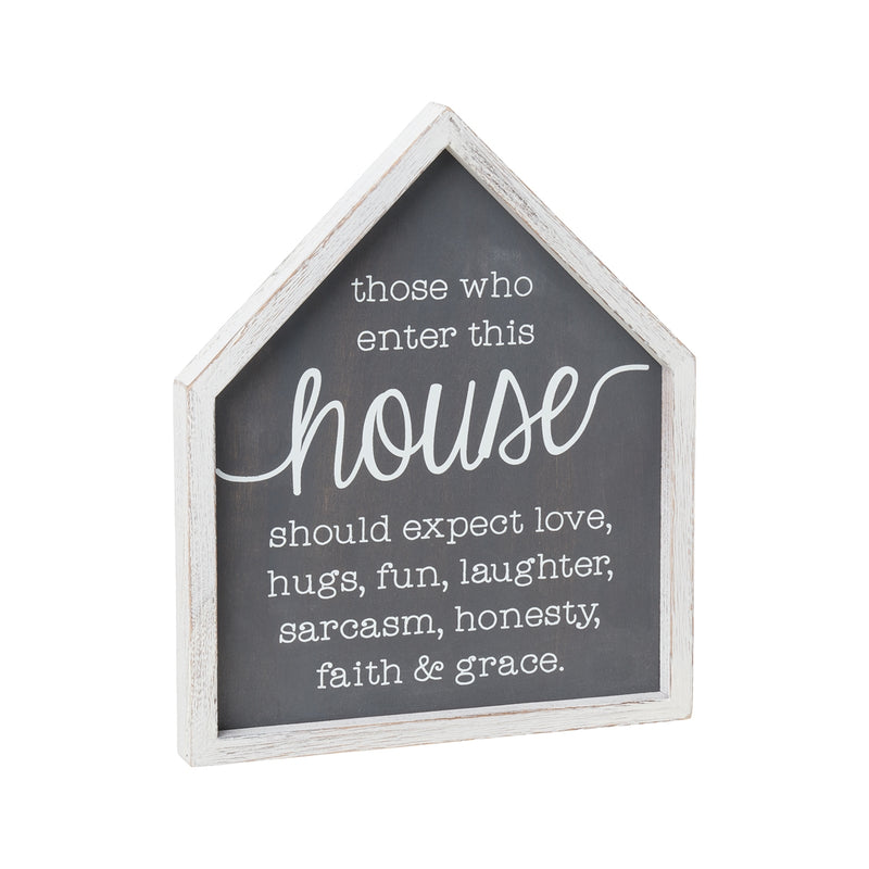 House Shape 3D Framed Sign