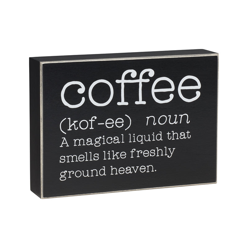 Coffee Definition Box Sign