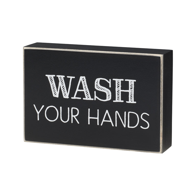 Wash Hands Box Sign
