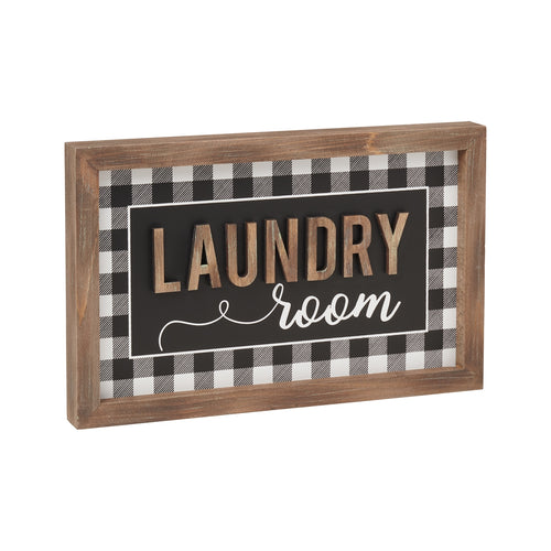 Laundry Room 3D Framed Sign