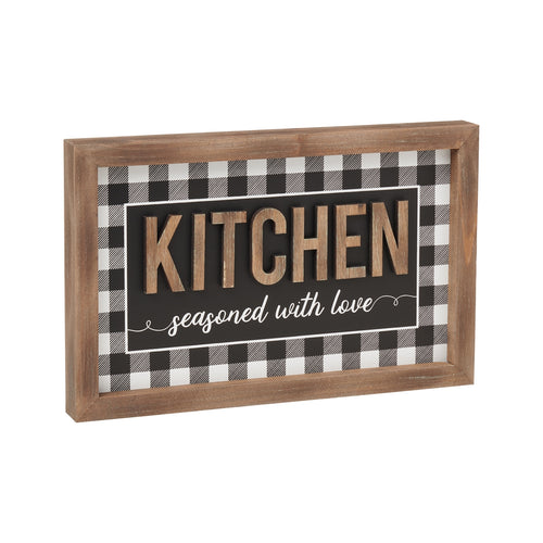 Kitchen 3D Framed Sign