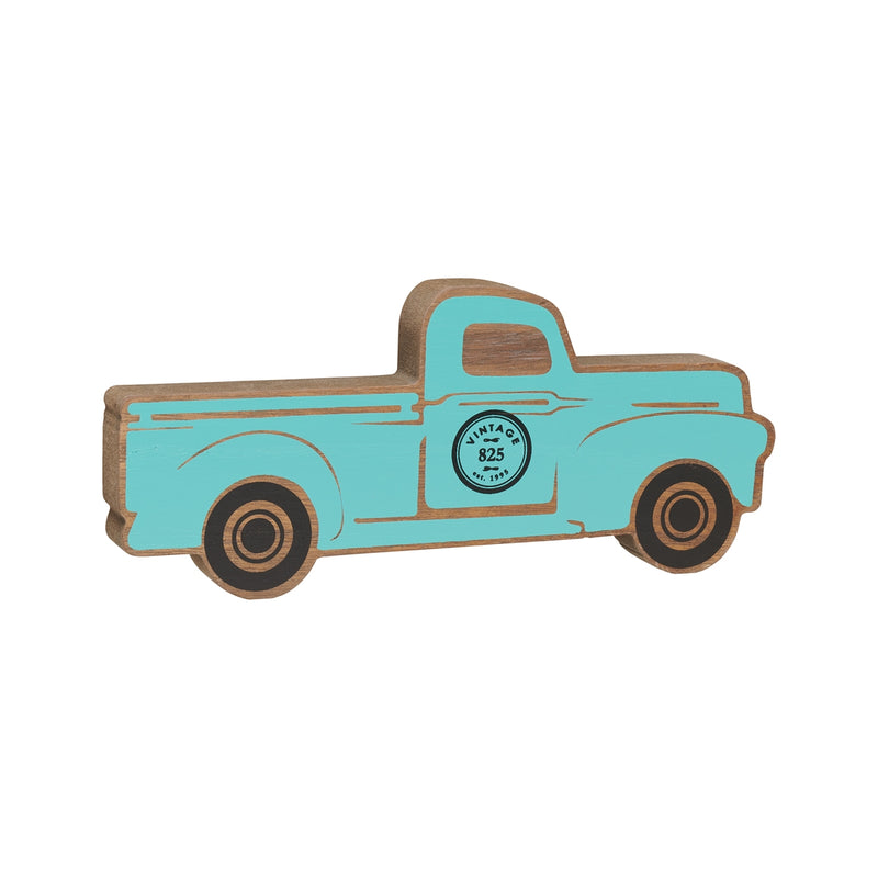 Lrg. Blue Truck Wood Cutout