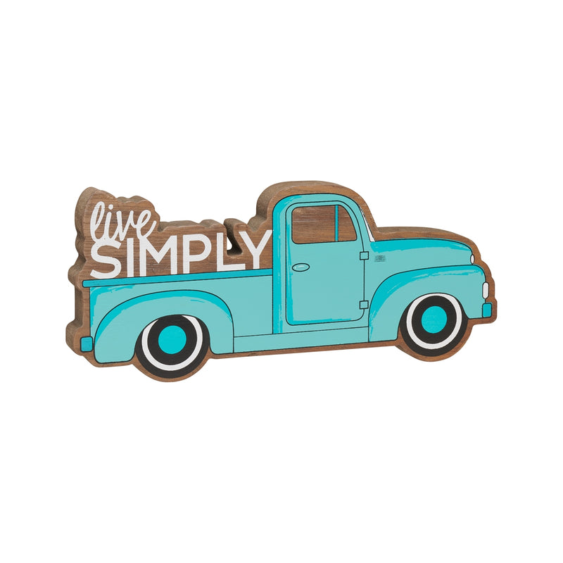 Simply Blue Truck Wood Cutout
