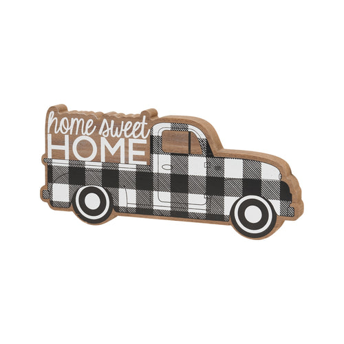 Home BW Truck Wood Cutout