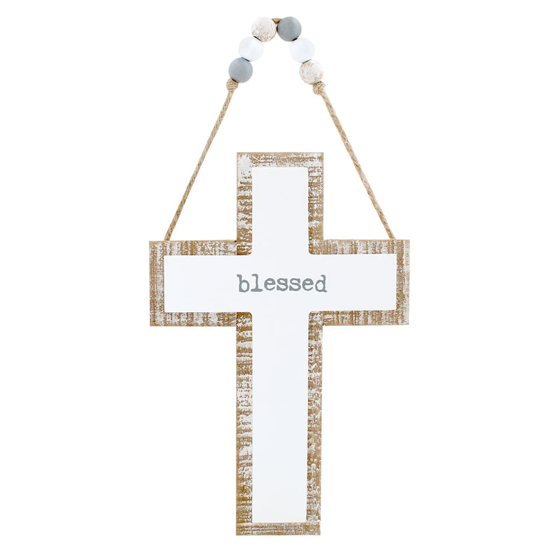 Blessed 3D Cross w/ Beads