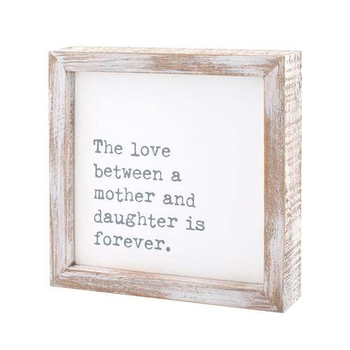 Mother Daughter Framed Sign