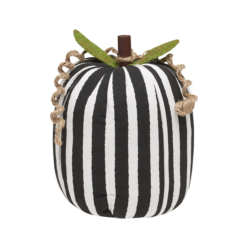 Lrg. BW Stripe Fabric Pumpkin