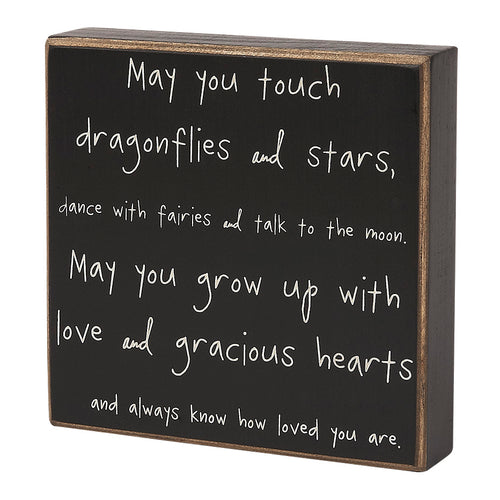 Dragonflies and Stars Box Sign