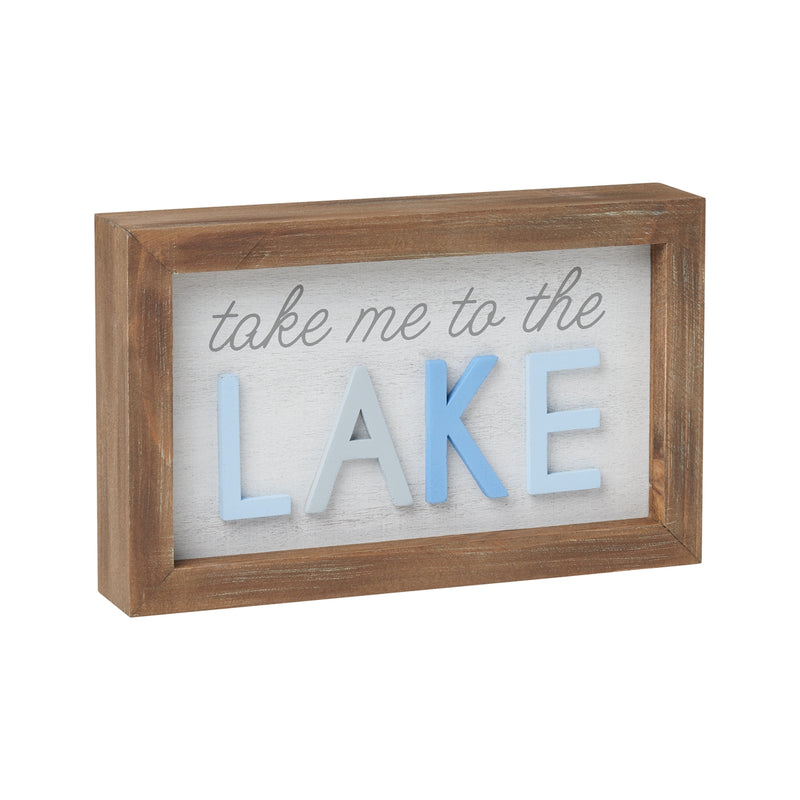 To Lake 3D Framed Sign