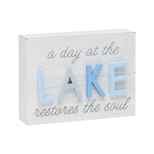Lake Soul 3D Block Sign