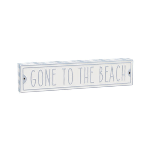 Gone Beach Street Block Sign