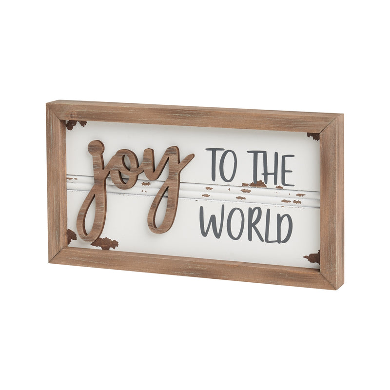 Joy 3D Framed Sign