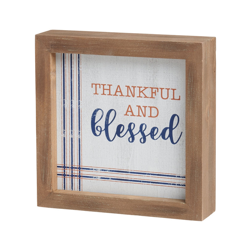 Thankful Distressed Framed Sign