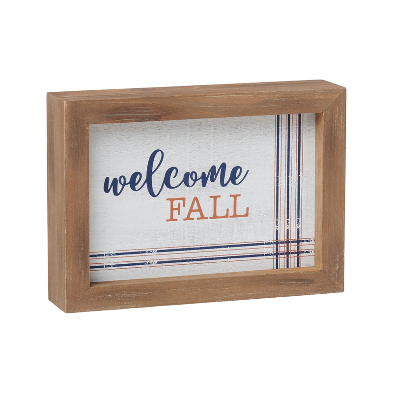 Fall Distressed Framed Sign