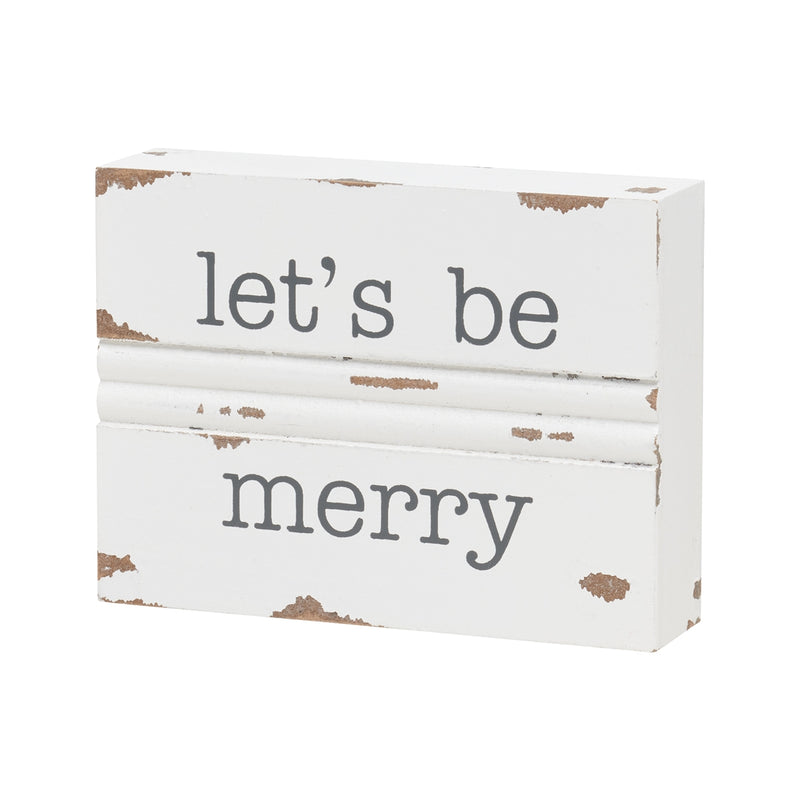 Be Merry Trim Block Sign