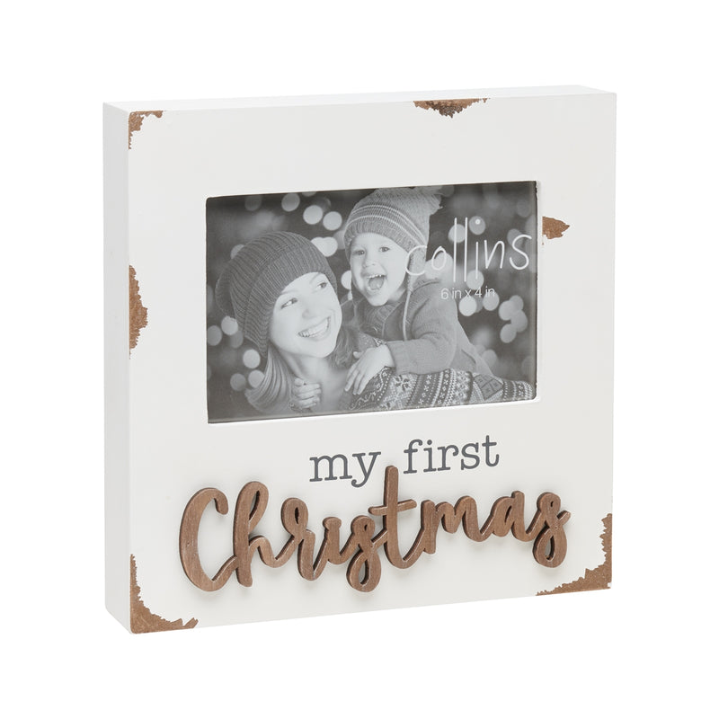 First Xmas Chippy 3D Photo Frame