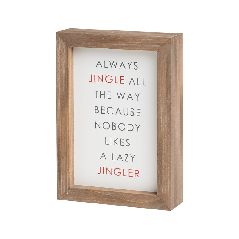 Jingle Framed Sign