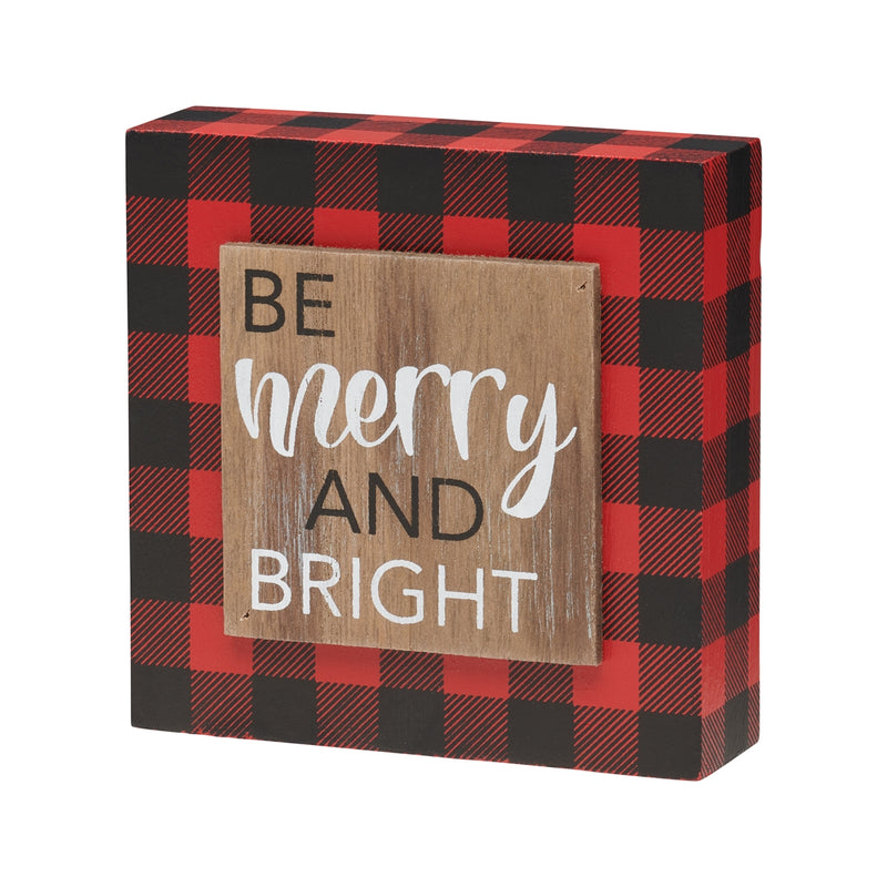 Be Merry 3D RB Block Sign