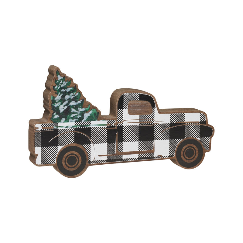 BW Truck/Tree Wood Cutout