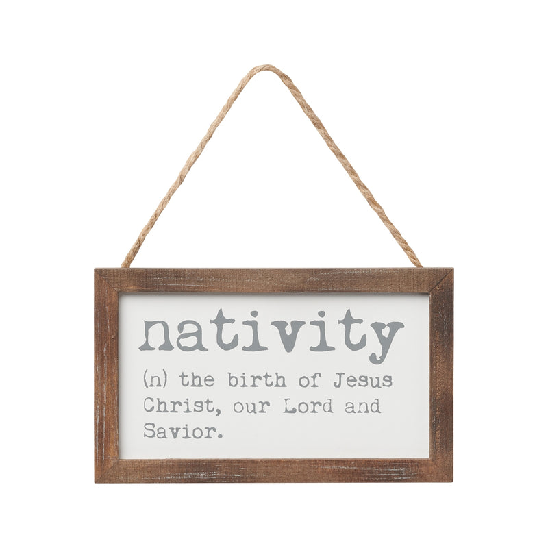 Nativity Def Framed Ornie