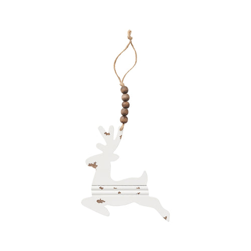 Deer Beaded Chippy Ornie