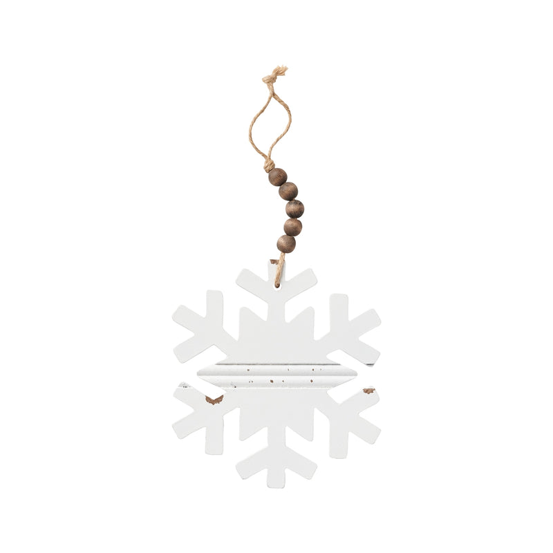 Snowflake Beaded Chippy Ornie
