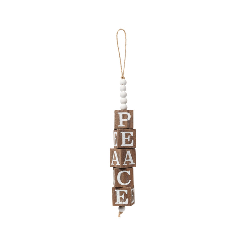 Peace Beaded Cube Ornie