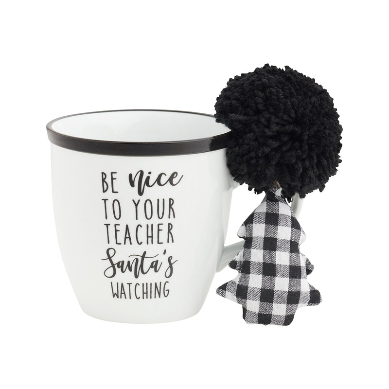 Teacher Santa Mug Set w/ Ornie