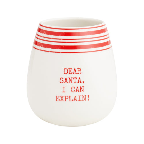 Dear Santa Striped Tumbler