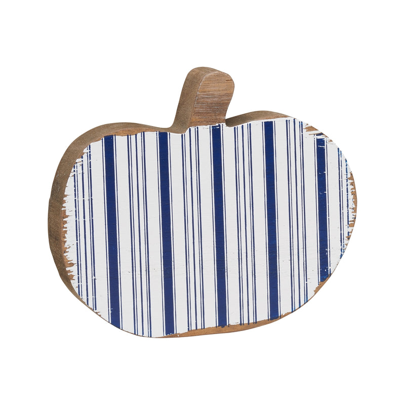 Lrg. White Striped Pumpkin Cutout