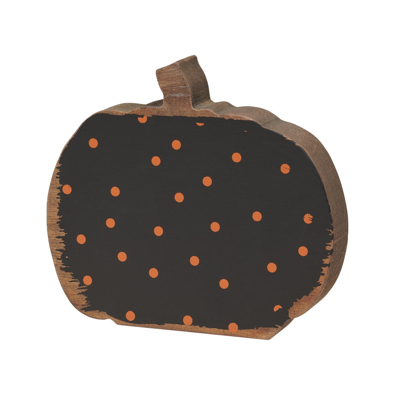 Sm. Orange Dot Pumpkin Cutout