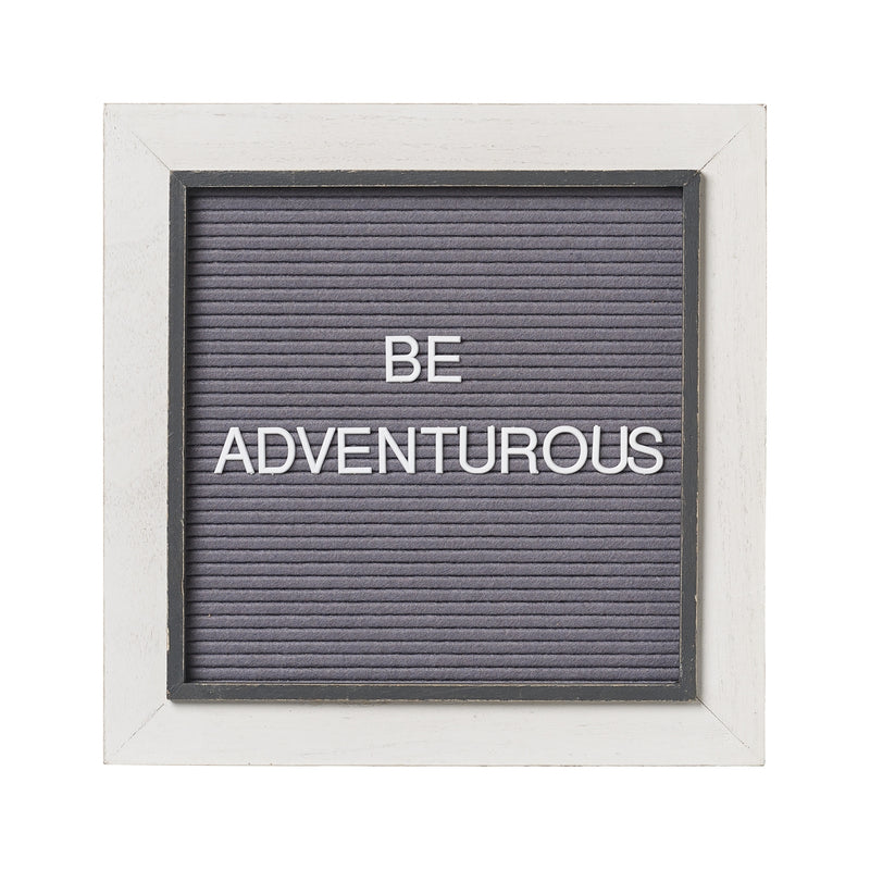 "White on Gray 14"" Letter Board (includes 144 letters/symbols)"
