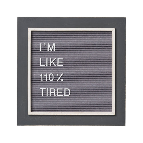 "Gray on Gray 14"" Letter Board (includes 144 letters/symbols)"