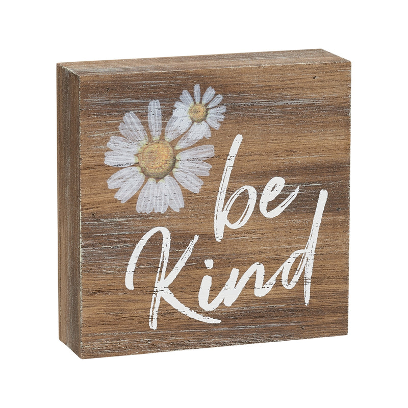 Be Kind Block Sign